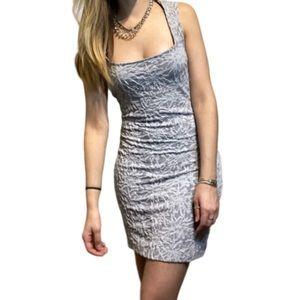 Free people grey textured mini dress